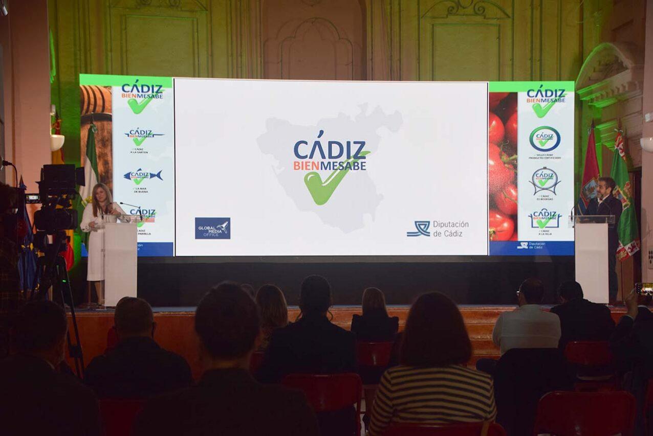Irene García en la presentación de Cádiz Bienmesabe
