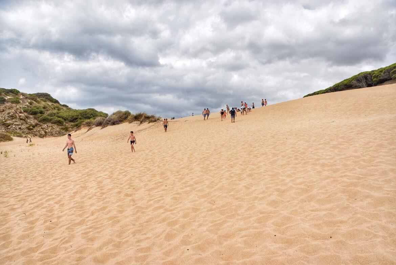 Subir la duna de Bolonia